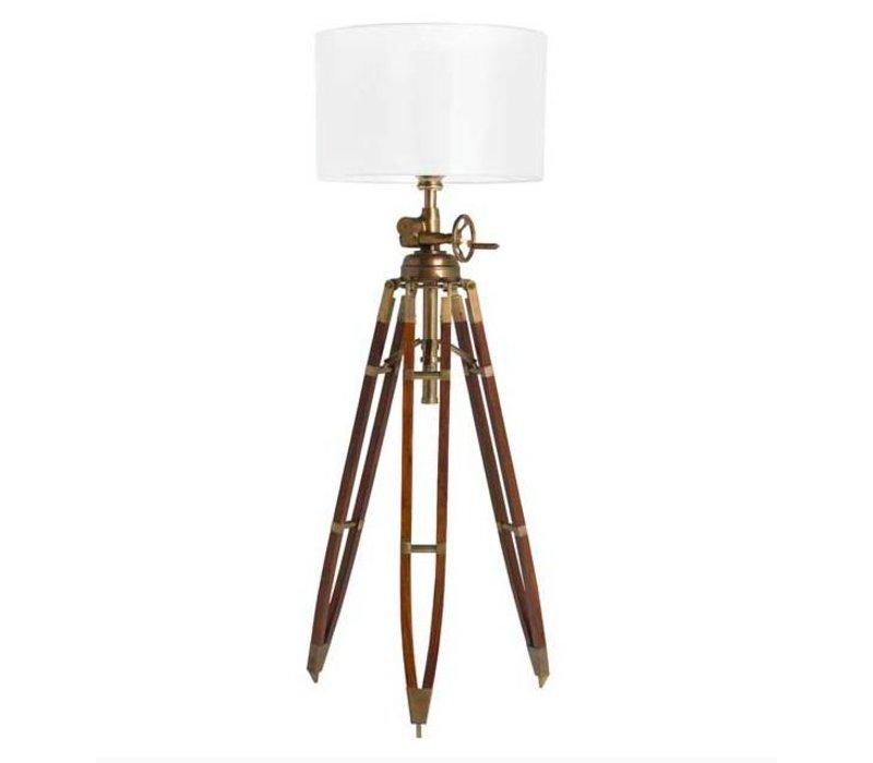 Driepoot lamp 'Royal Marine' brown verstelbaar in hoogte
