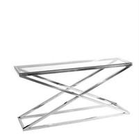 Glazen console tafel 'Criss Cross'