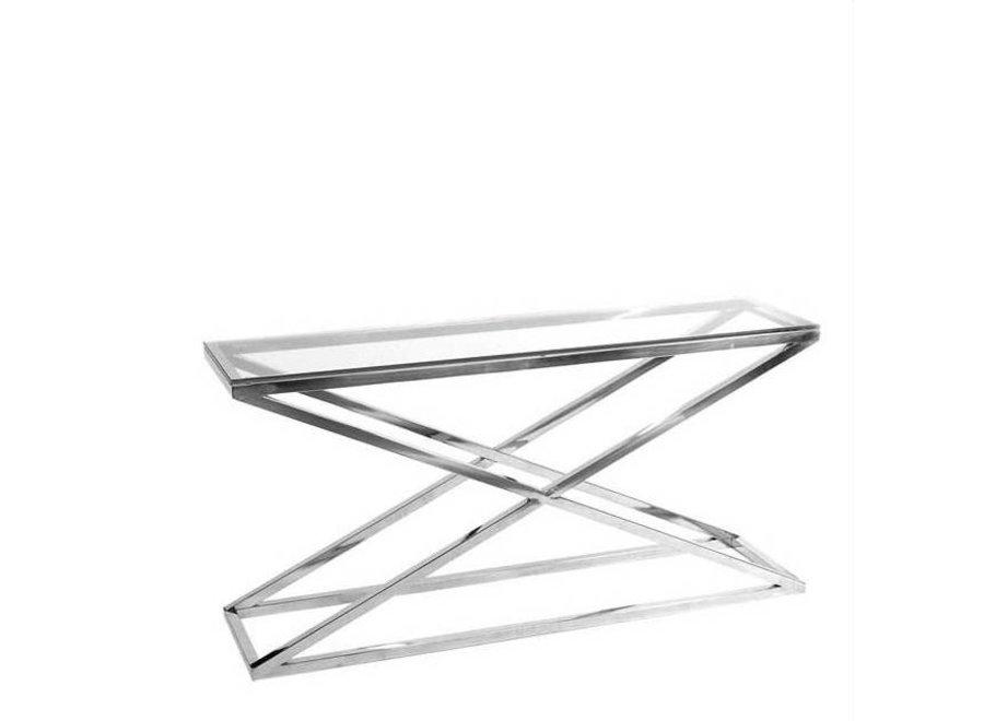 Glazen console tafel - Criss Cross