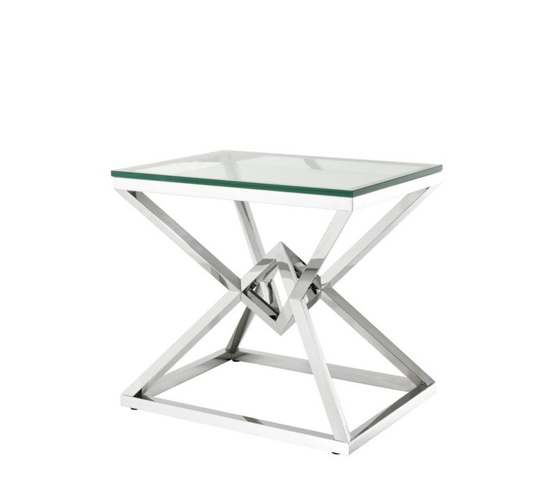 Glass Side table 'Connor' 50,5 x 65 x H. 60 cm