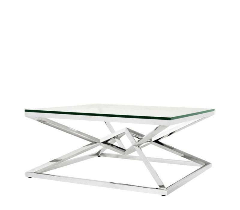 Glass Coffee table 'Connor' 100 x 100 x H. 45 cm