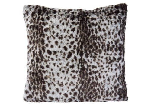 Winter-Home Cushion faux fur Serval