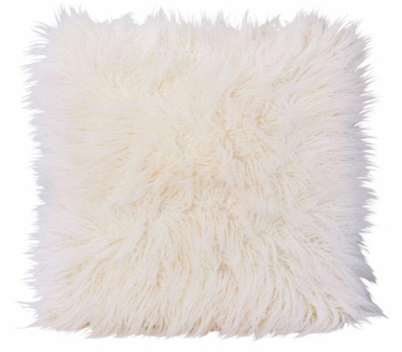 Fellkissen 'Curlywhite' in 45x45cm