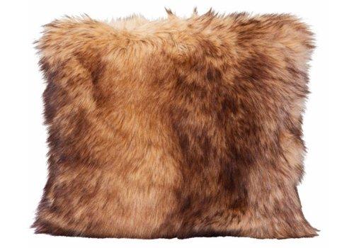 Winter-Home Cushion faux fur Steppenwolf