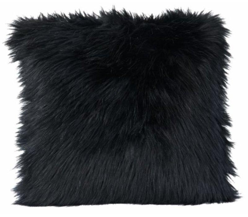 Kussen bont 'Blackwolf' in 45cm x 45cm