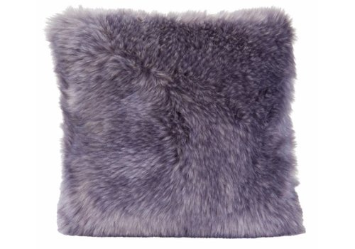 Winter-Home Cushion faux fur Purplewolf