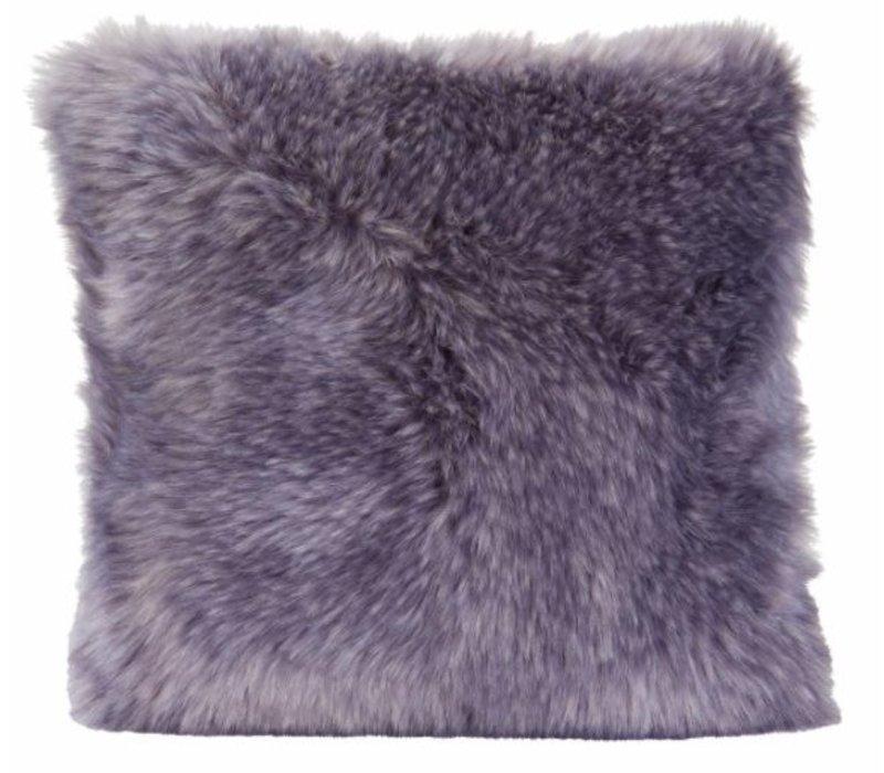 Kussen bont 'Purplewolf' in 45cm x 45cm