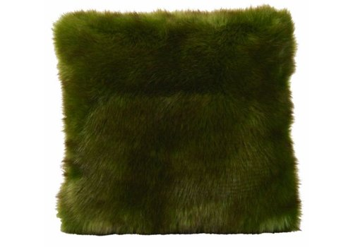 Winter-Home Cushion faux fur Greenwolf