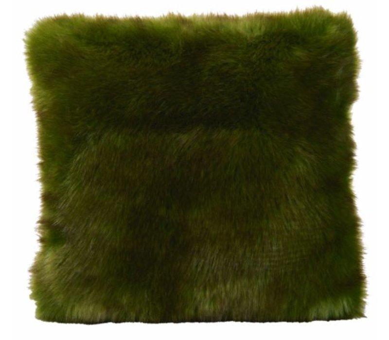 Kussen bont 'Greenwolf' in 45cm x 45cm