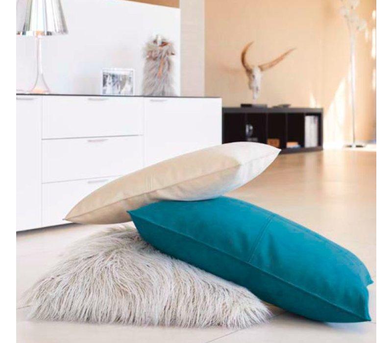 Dekokissen Alcantara 'Ivory' in 45cm x 60cm