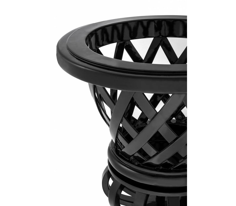 Plantenbak zwart 'Cypress Gardens' H 86cm