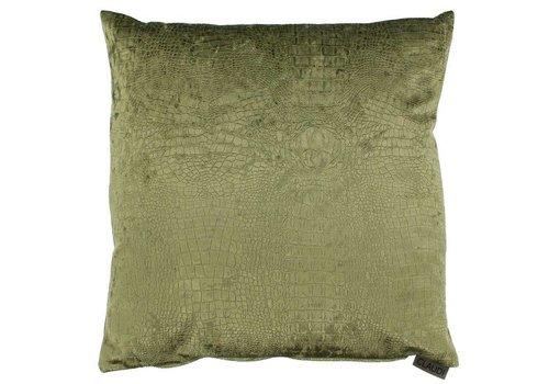 CLAUDI Chique throw pillow Esta Olive