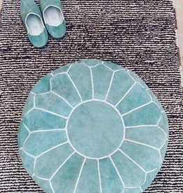 Riadlifestyle Suede pouf Mint green
