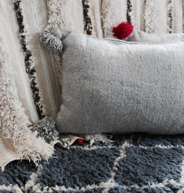 Riadlifestyle Pom Pom cushion grey