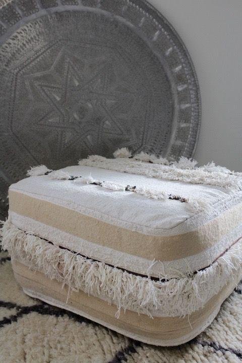 Riadlifestyle Marokkaanse handira poef Dina