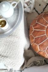 Riadlifestyle Moroccan pouf cognac