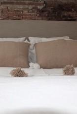 Riadlifestyle Pom Pom blanket white-Taupe