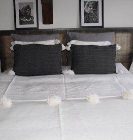 Riadlifestyle Pom Pom blanket white