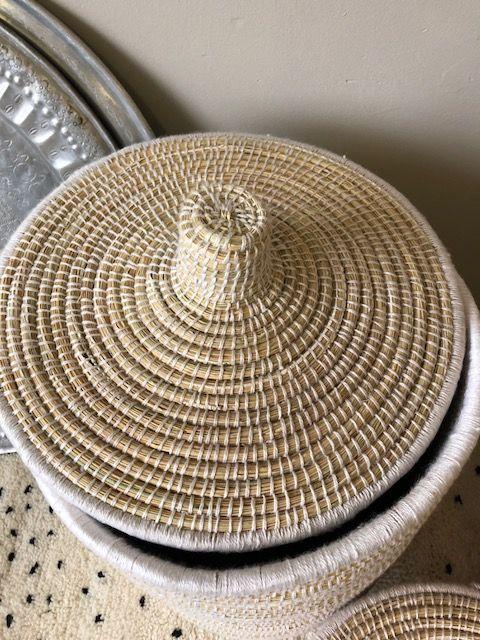 Riadlifestyle Moroccan basket L White