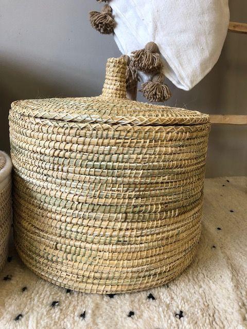 Riadlifestyle Moroccan basket  Naturel small