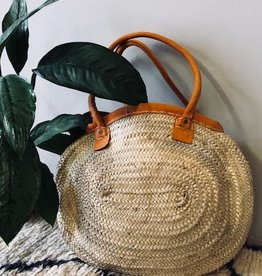 Riadlifestyle Moroccan wicker basket Orange