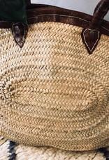 Riadlifestyle Marokkaanse rieten mand Slangenleer XL