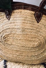 Riadlifestyle Moroccan wicker basket Snake leather XL