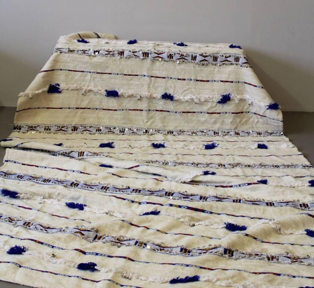 Riadlifestyle Vintage Marokkaanse Handira  blue