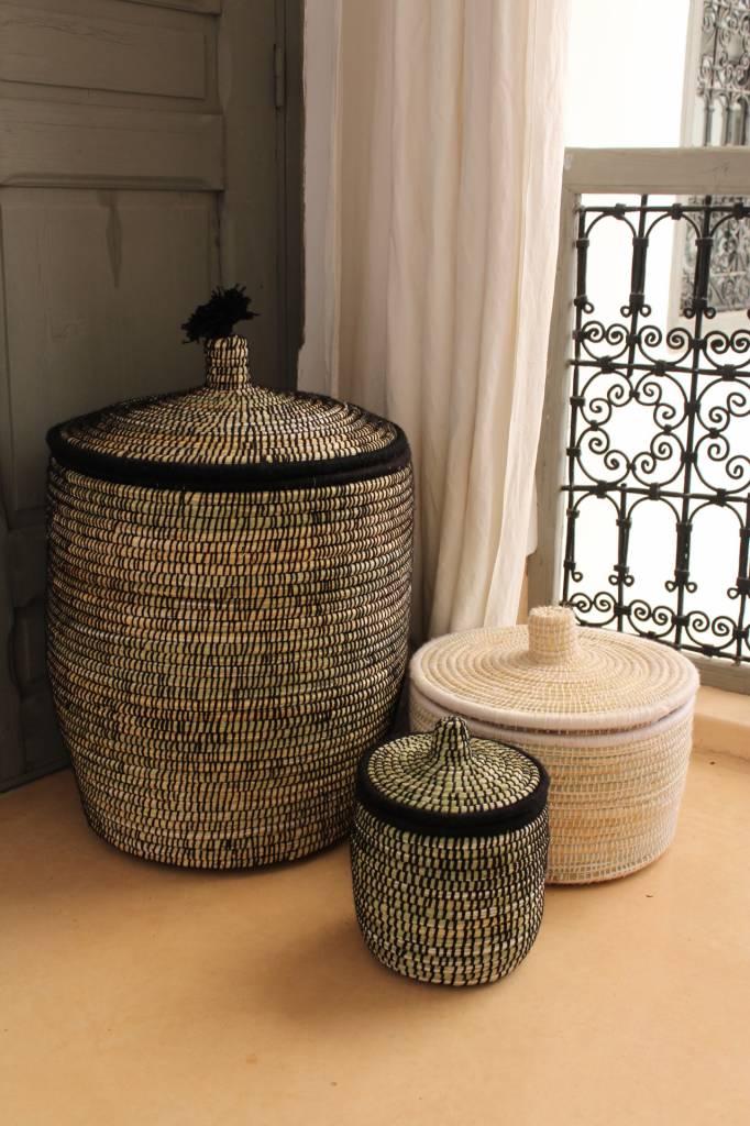 Riadlifestyle Moroccan basket M White