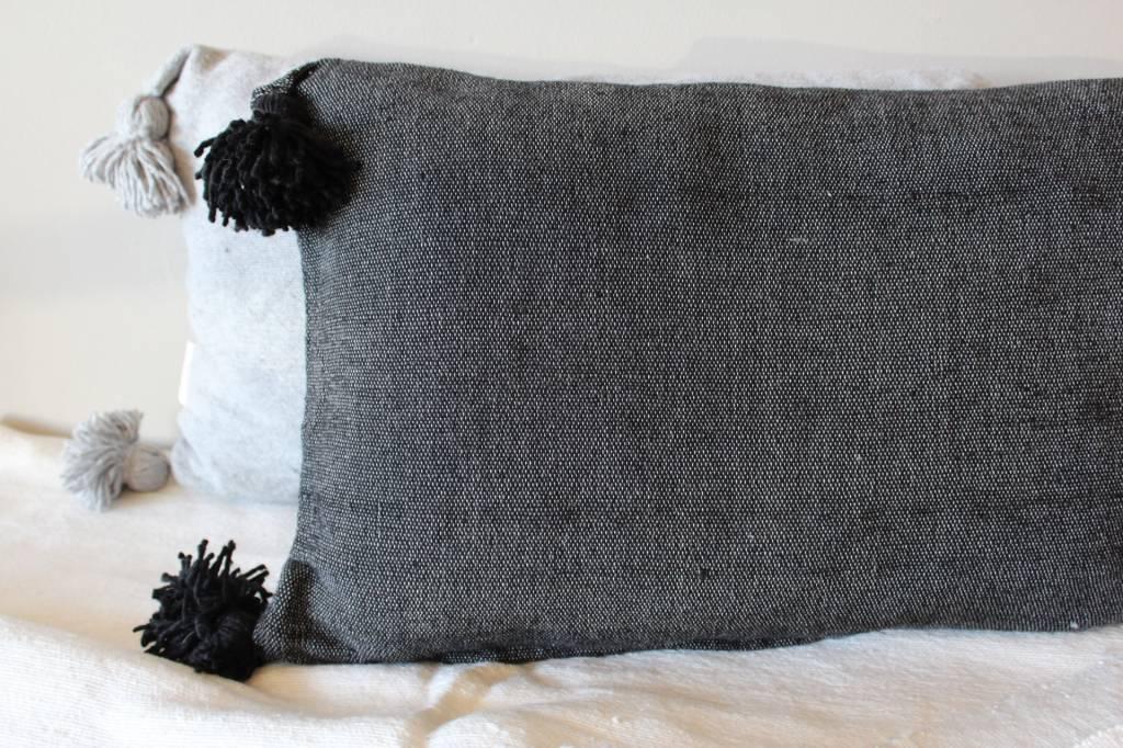 Riadlifestyle Pom Pom cushion Black - Copy