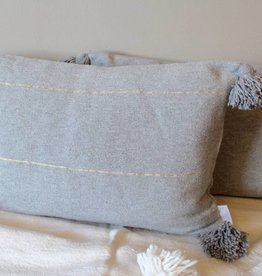 Riadlifestyle Pom Pom cushion grey - Copy