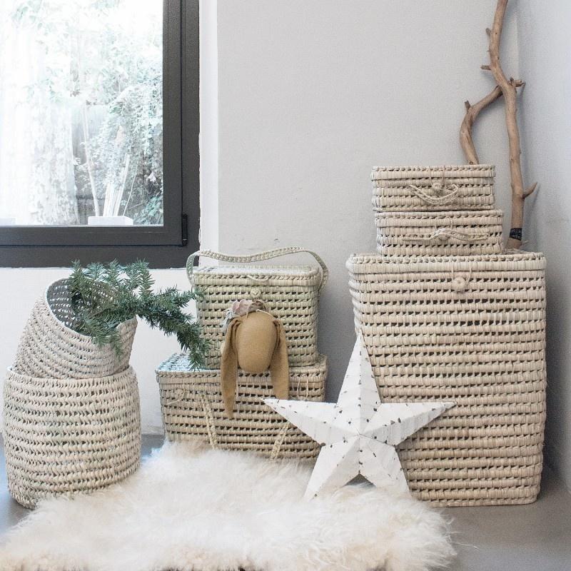 Riadlifestyle Marokkaanse wasmand palmblad