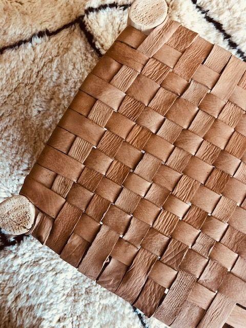 Riadlifestyle Marokkaans krukje leer