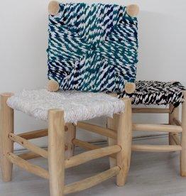 Riadlifestyle Moroccan stool Boucherouite green