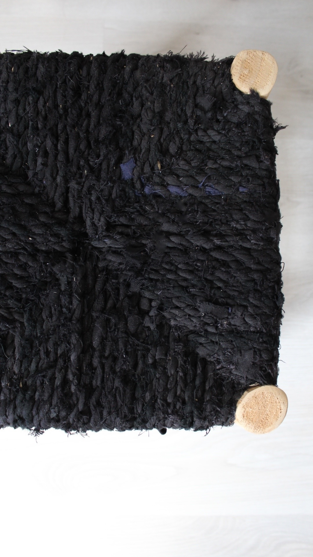 Riadlifestyle Marokkaans krukje Boucherouite zwart