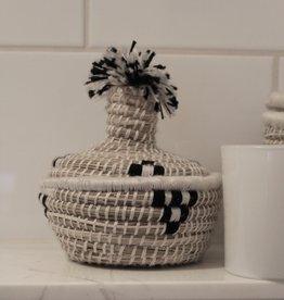 Riadlifestyle Moroccan basket Mini zwart/wit