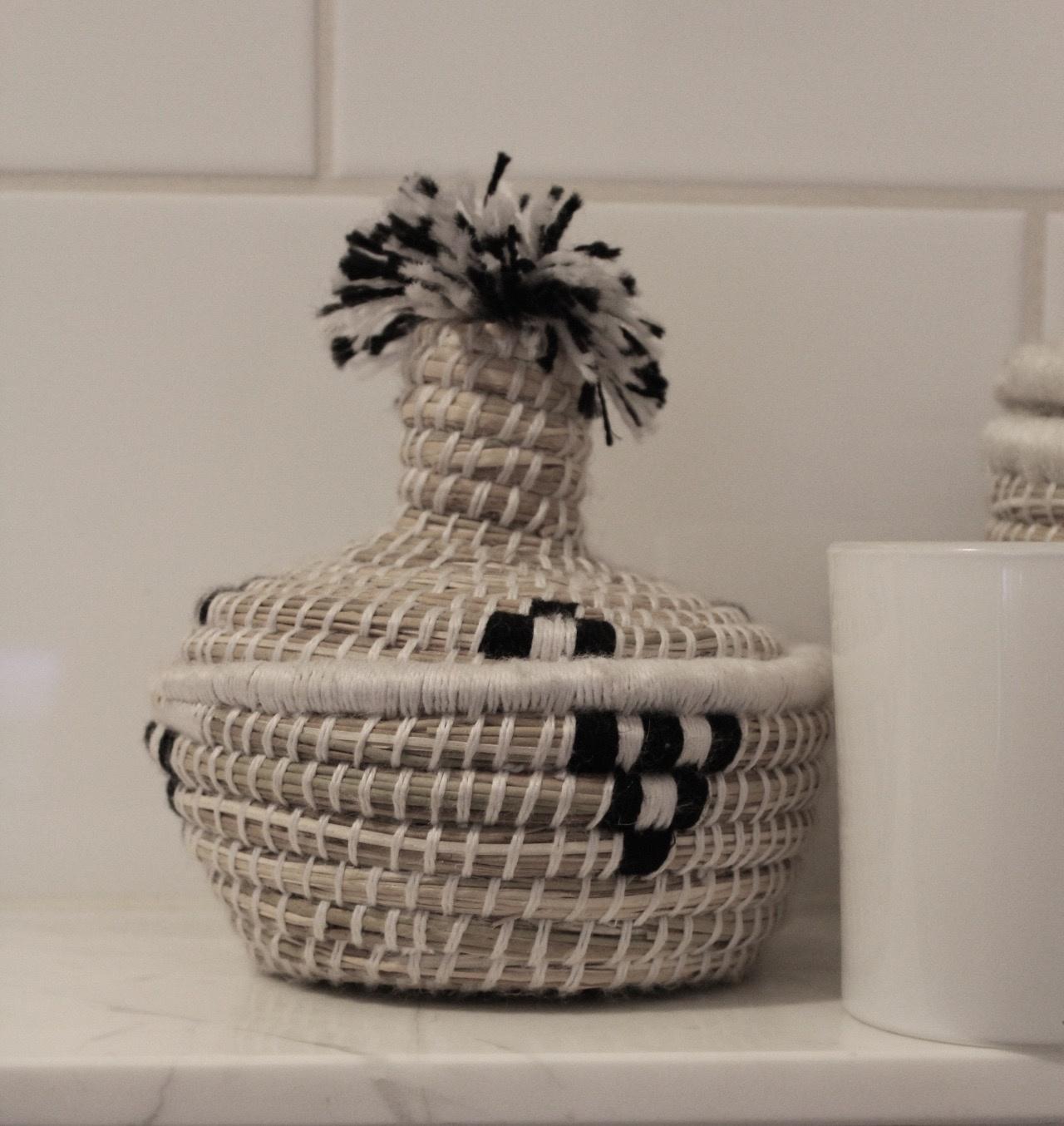 Riadlifestyle Moroccan basket Mini zwart/mini