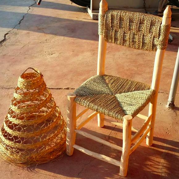 Riadlifestyle Moroccan stool rotan - Copy