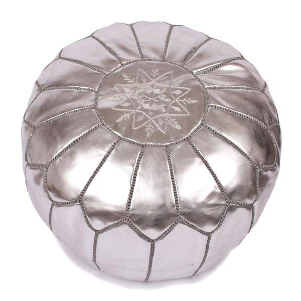 Riadlifestyle Moroccan pouf silver