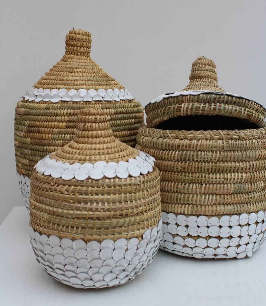 Riadlifestyle Handgemaakte rieten mand met deksel M