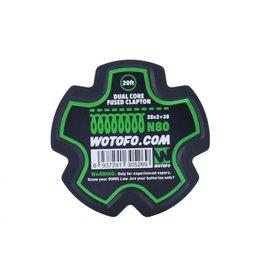Wotofo Fused Clapton 26 + 38 N80 Draht - 20ft