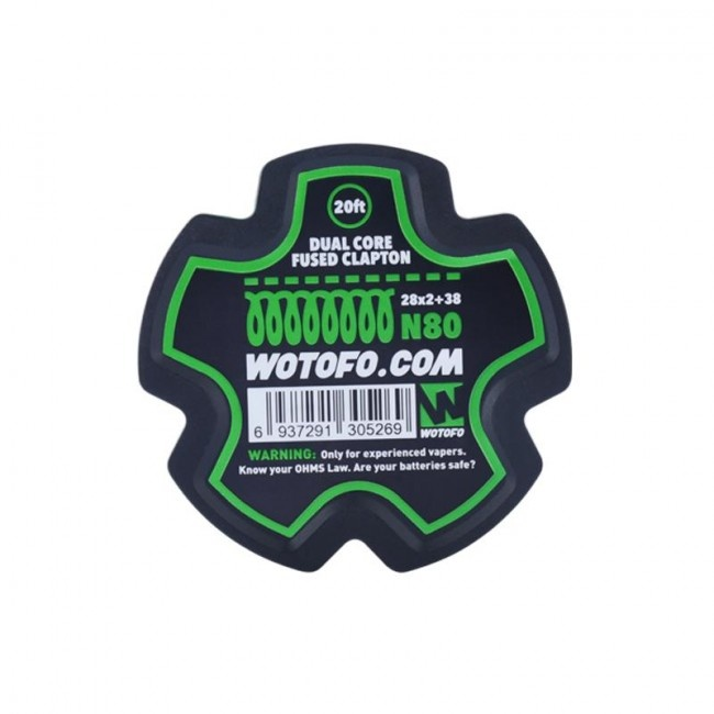 Wotofo Fused Clapton 26+38 N80 wire - 20ft