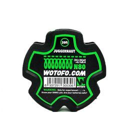 Wotofo Juggernaut 26 + 36 x2 + 0.1x0.4 N80 Draht - 20ft