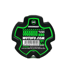 Wotofo Juggernaut 26 + 36 x2 + 0.1x0.4 N80 wire - 20ft