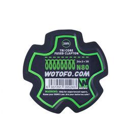 Wotofo Tri Core geschmolzenes Clapton 26x3 +38 N80 Kabel - 20ft
