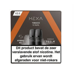 "Hexa Pods 2.0 - Tobacco ""nic salt"" (2pcs)"