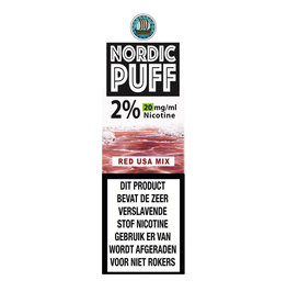 Nordic Puff Nic Salts - Red Usa Mix