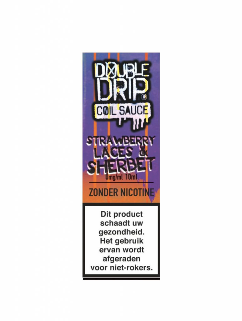 Double Drip - Strawberry Laces & Sherbet  (High VG)