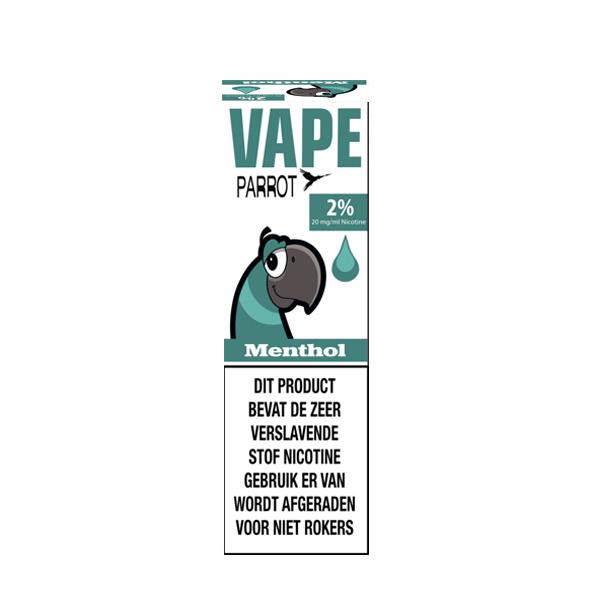 Parrot Vape - Menthol (Nic Salt) - 2%