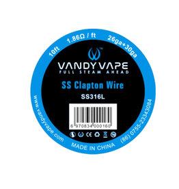 Vandy Vape - SS Clapton Draht SS316L / 26ga + 30ga - 10ft